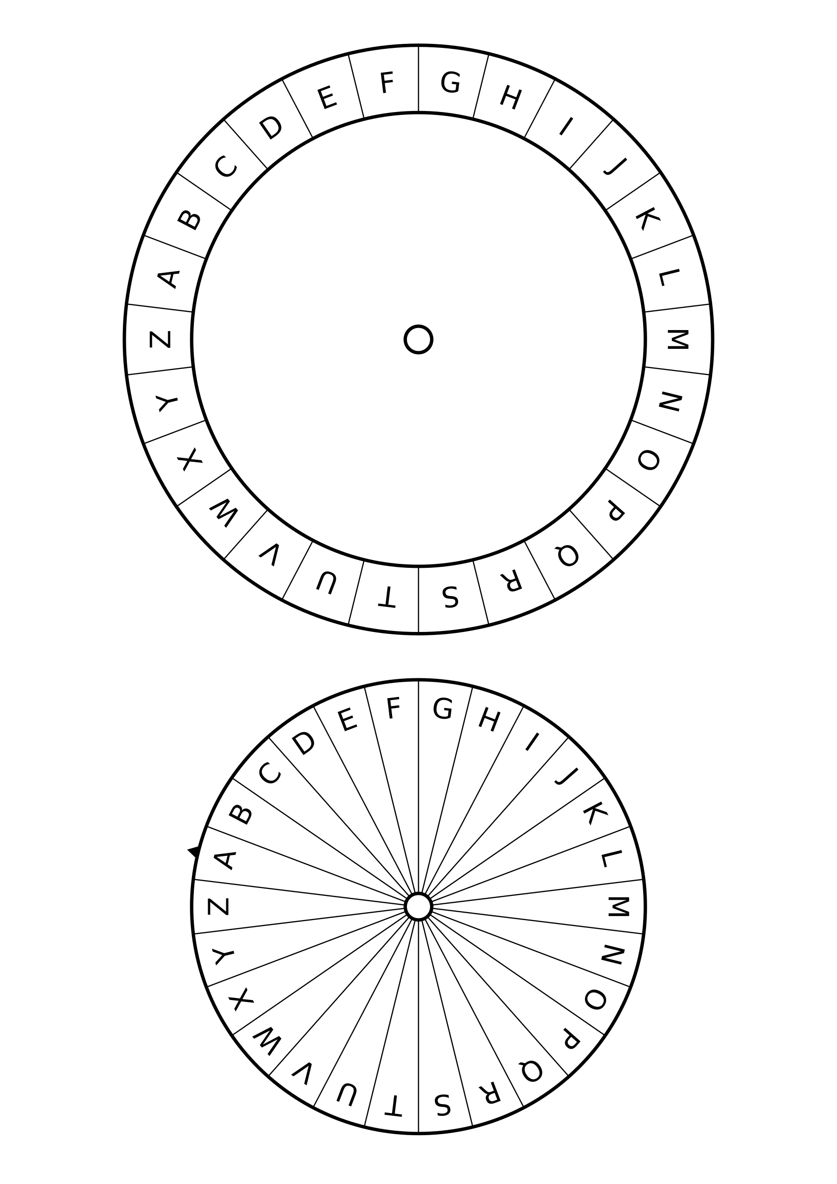 B clipart template. Caesar cipher big image