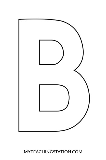 B clipart template. Letter best business craft
