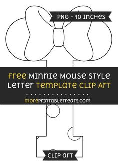 B clipart template. Free minnie mouse style