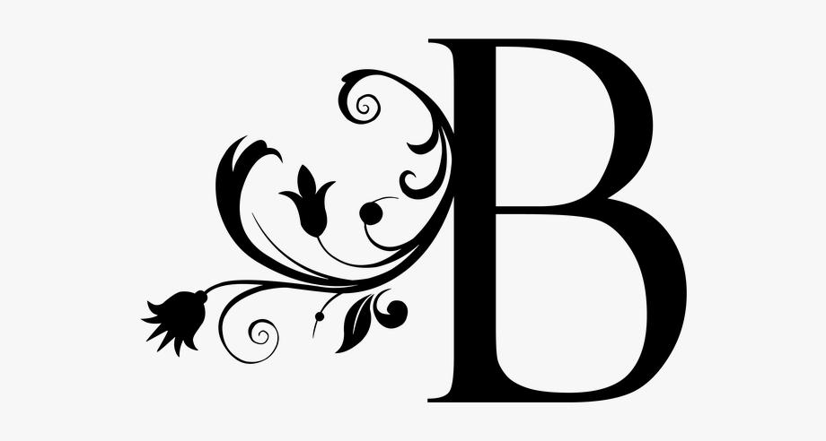 Letter litera monogram the. B clipart text