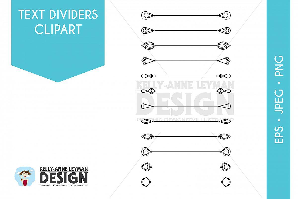 Digital divider design bundles. B clipart text