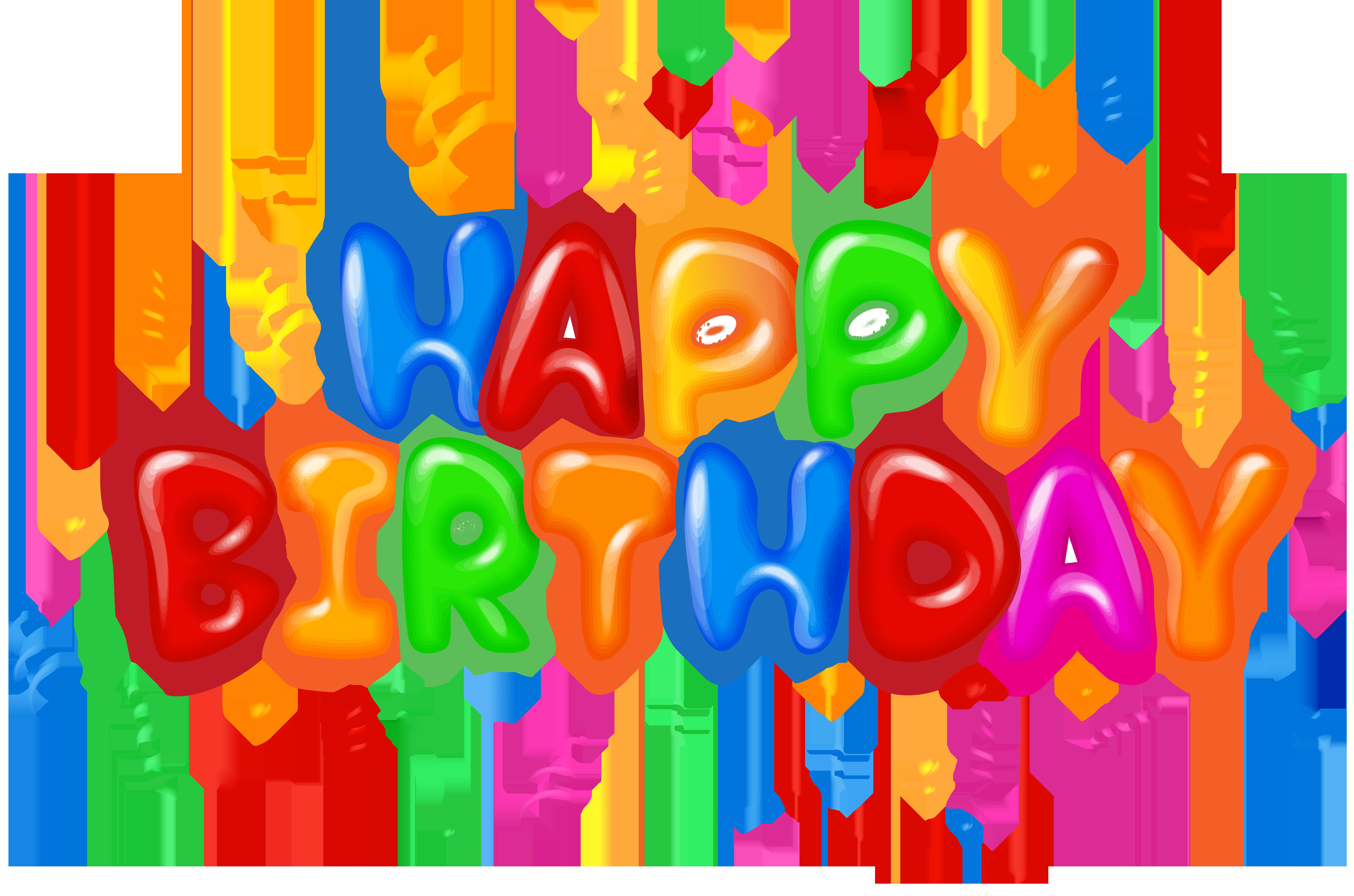 B clipart text. Happy birthday decor png
