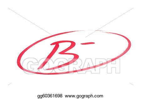 B clipart text. Drawing good school exam
