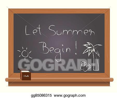 B clipart text. Eps vector let summer