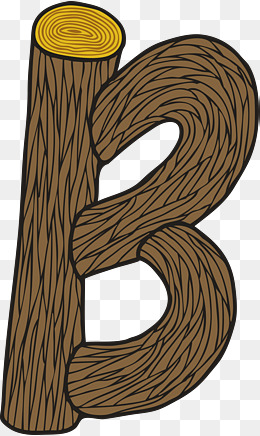 B clipart wood. Good looking png image