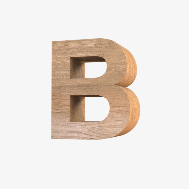 Good looking png image. B clipart wood