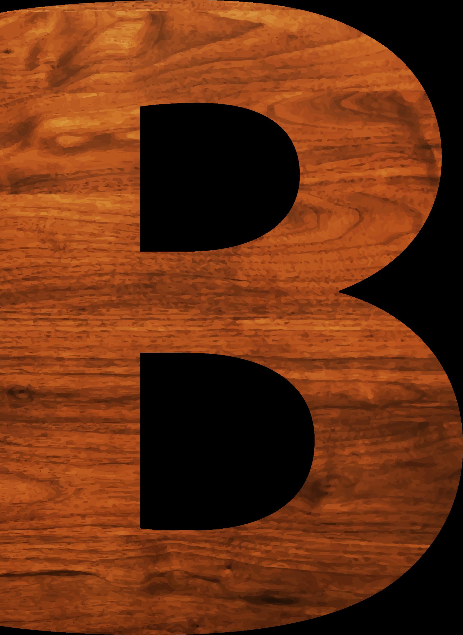 B clipart wood. Texture alphabet big image
