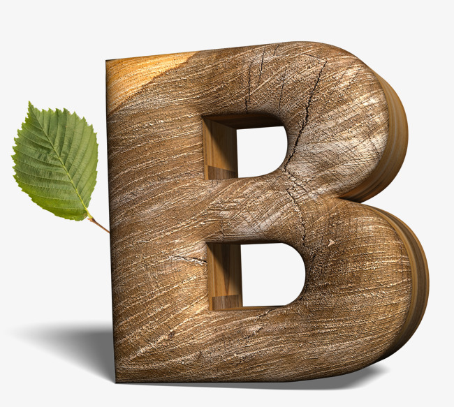 Creative letters letter png. B clipart wood