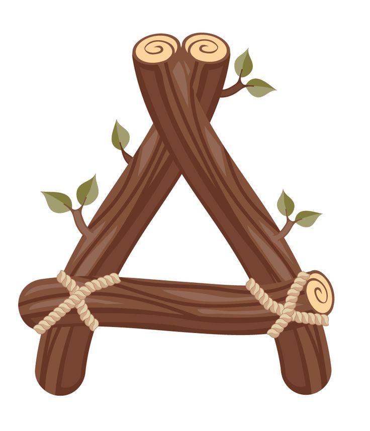 best abc twigs. B clipart wood