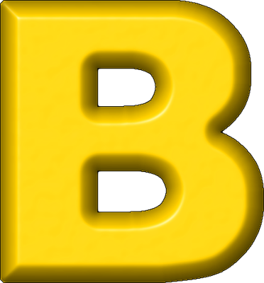 Letter png images free. B clipart yellow