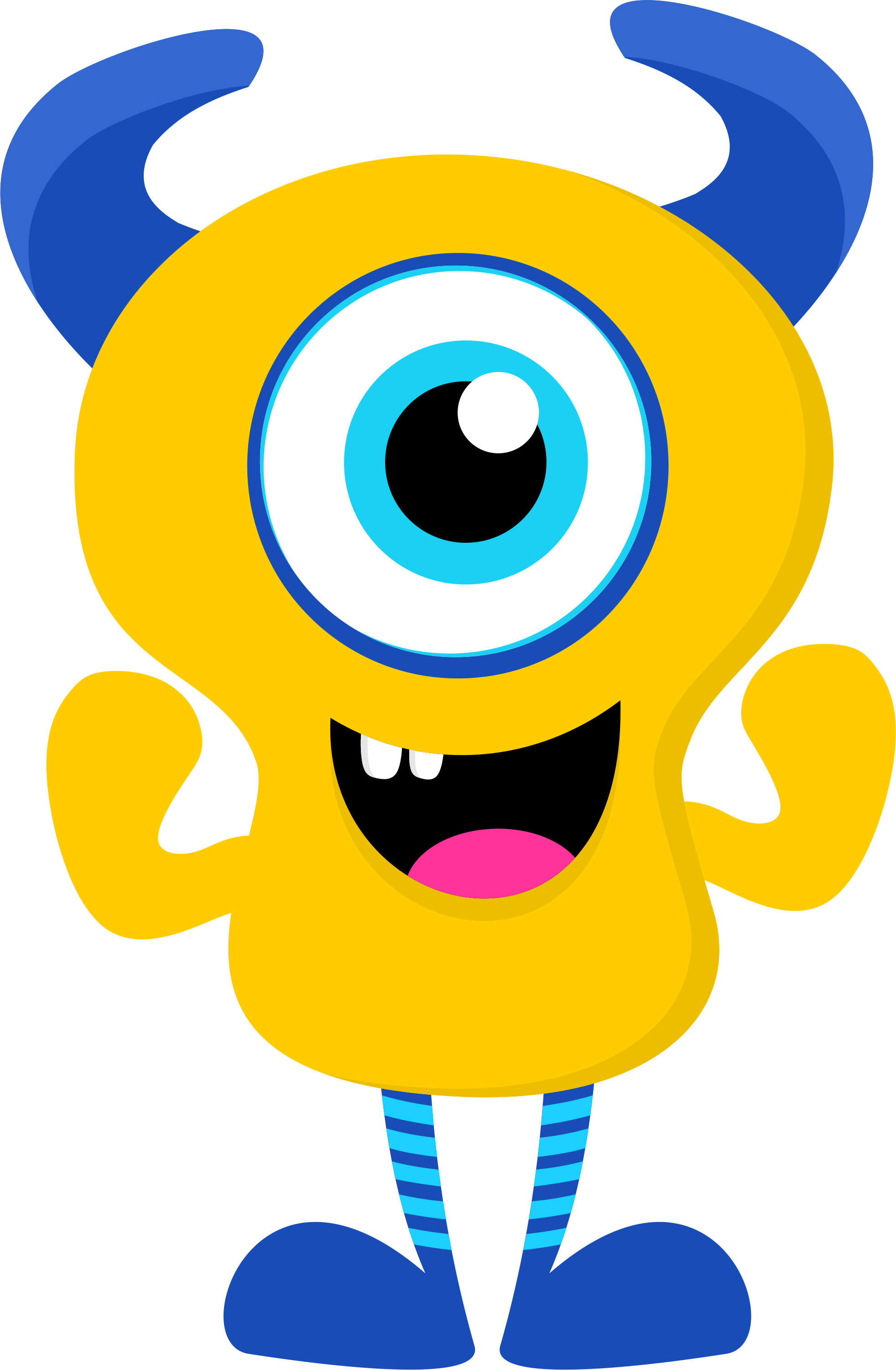 Monster clipart 3 eye. Ch b de minus
