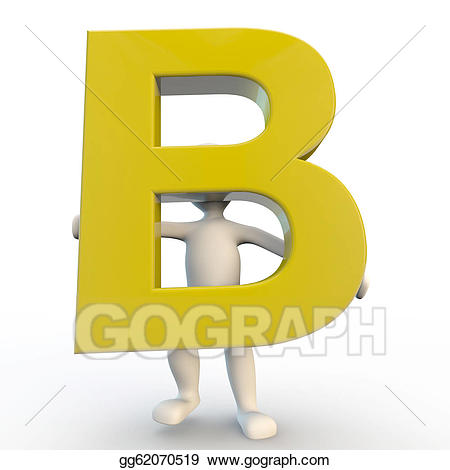 B clipart yellow. Stock illustration d human