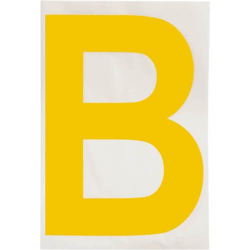 B clipart yellow. Brady toughstripe die cut