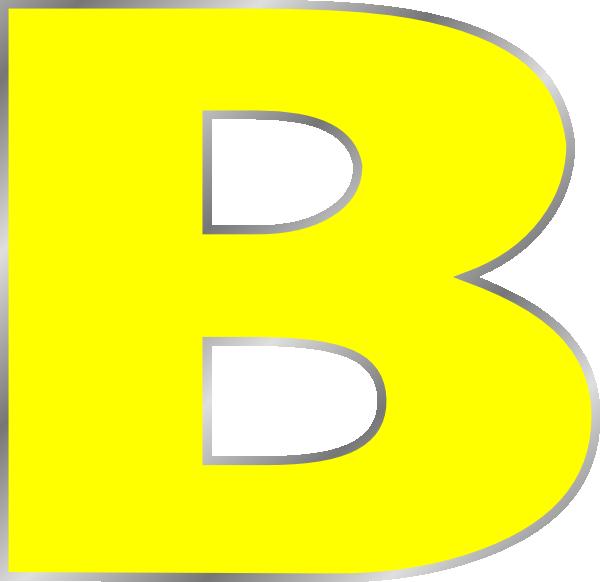 Hd letter clip art. B clipart yellow