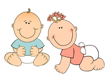 Babies clipart. Two