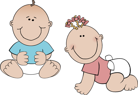 Twin baby . Babies clipart