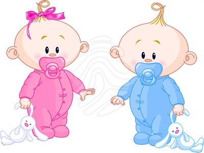 Twins clipart girl painting. Animated baby twin babies