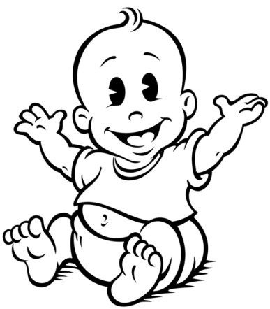 collection of baby. Babies clipart black and white