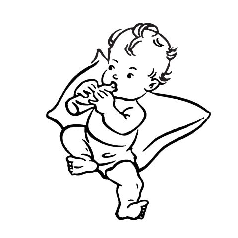 best shower clip. Baby clipart line drawing