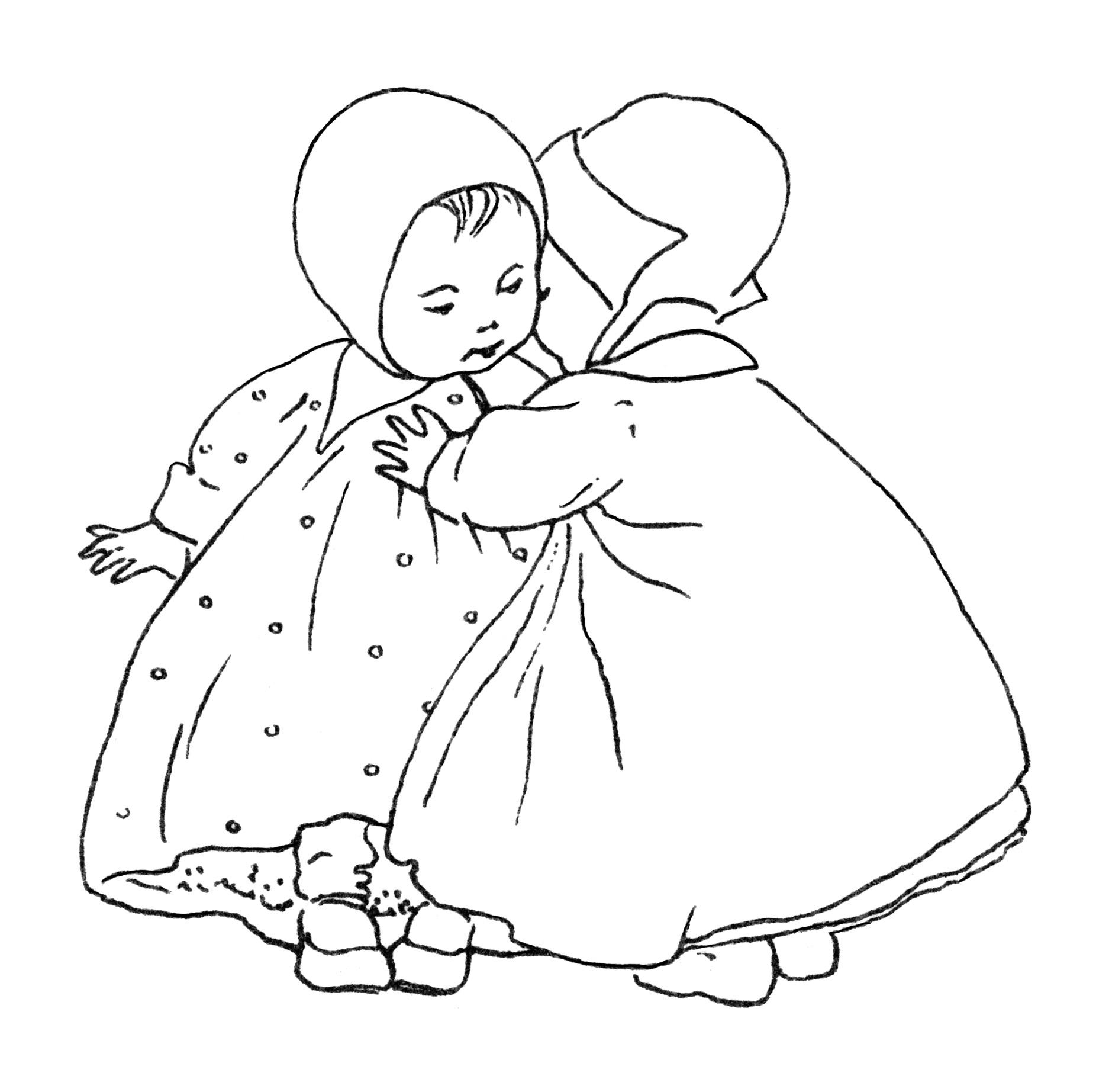 Babies clipart black and white. Old design shop blog