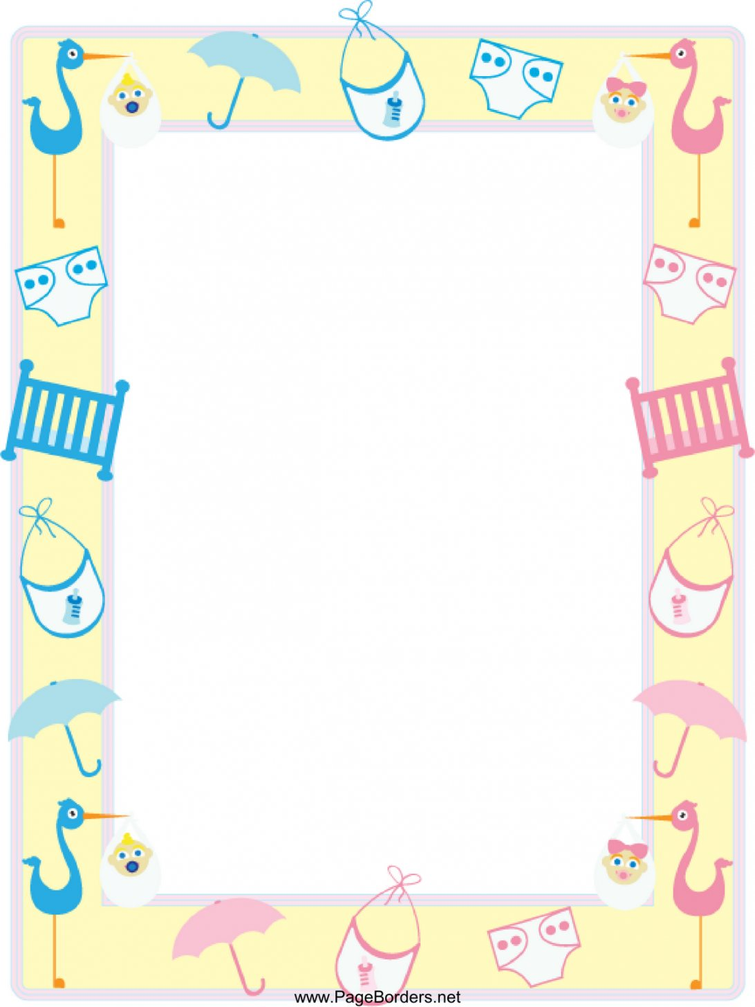 Shower for word designsbyemilyf. Baby clipart border