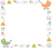 collection of free. Baby clipart border