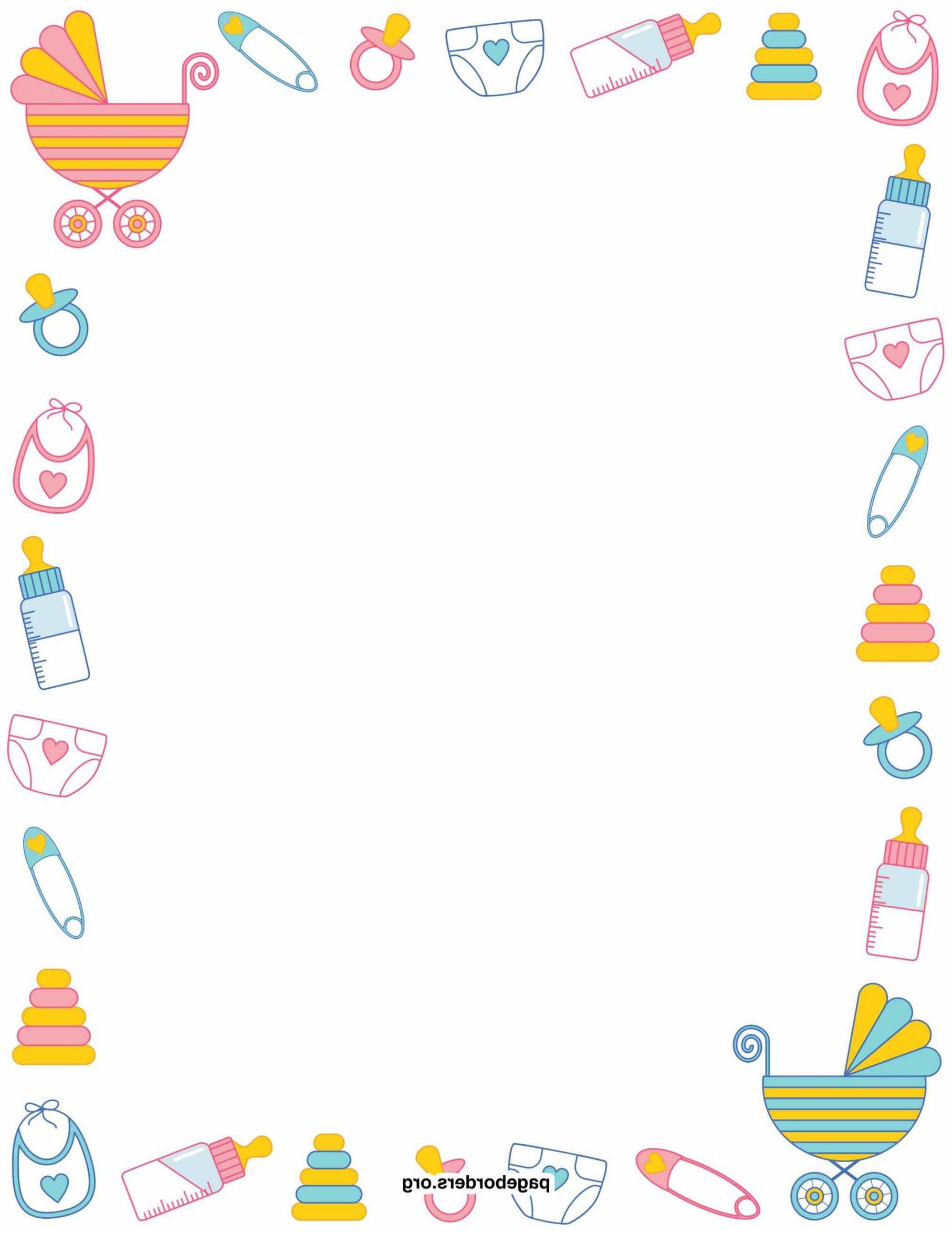 Baby clipart border. Clipartuse shower clip art