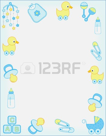 Baby clipart frame. Shower border templates for