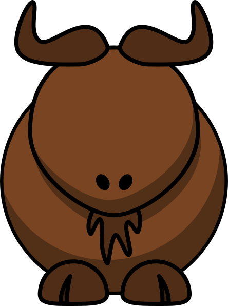 With no eyes clip. Buffalo clipart water buffalo
