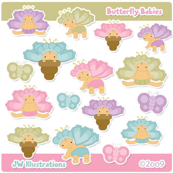 Babies clipart butterfly. By jddoodles on deviantart