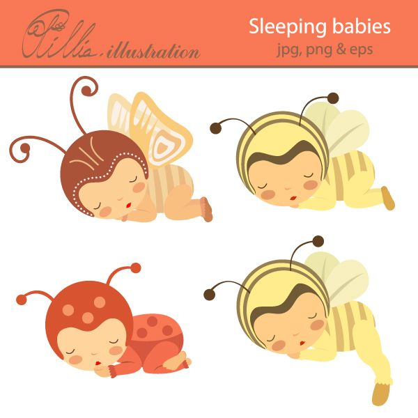 Babies clipart butterfly. This adorable sleeping comes