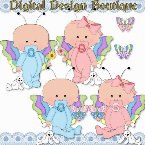 Baby country graphics . Babies clipart butterfly
