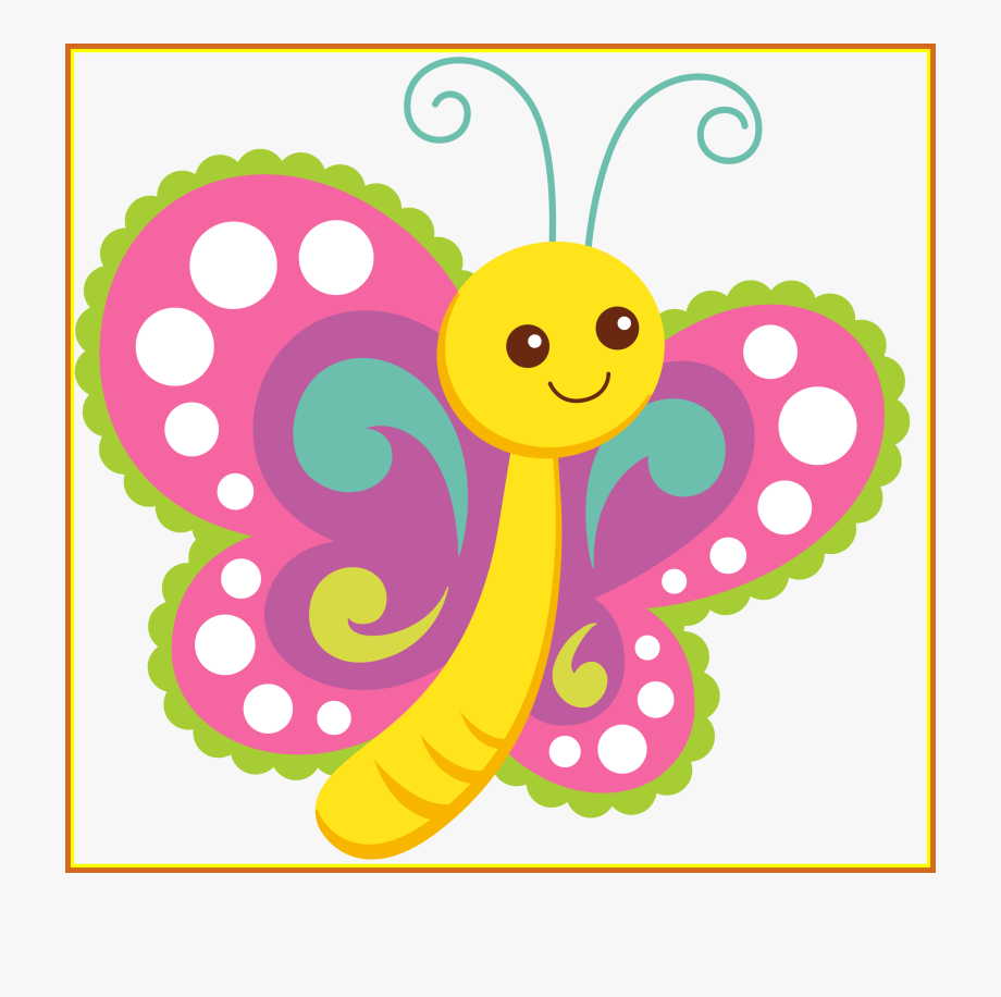 Kids polka dot baby. Babies clipart butterfly