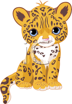 Cartoon animals royalty free. Bobcat clipart baby