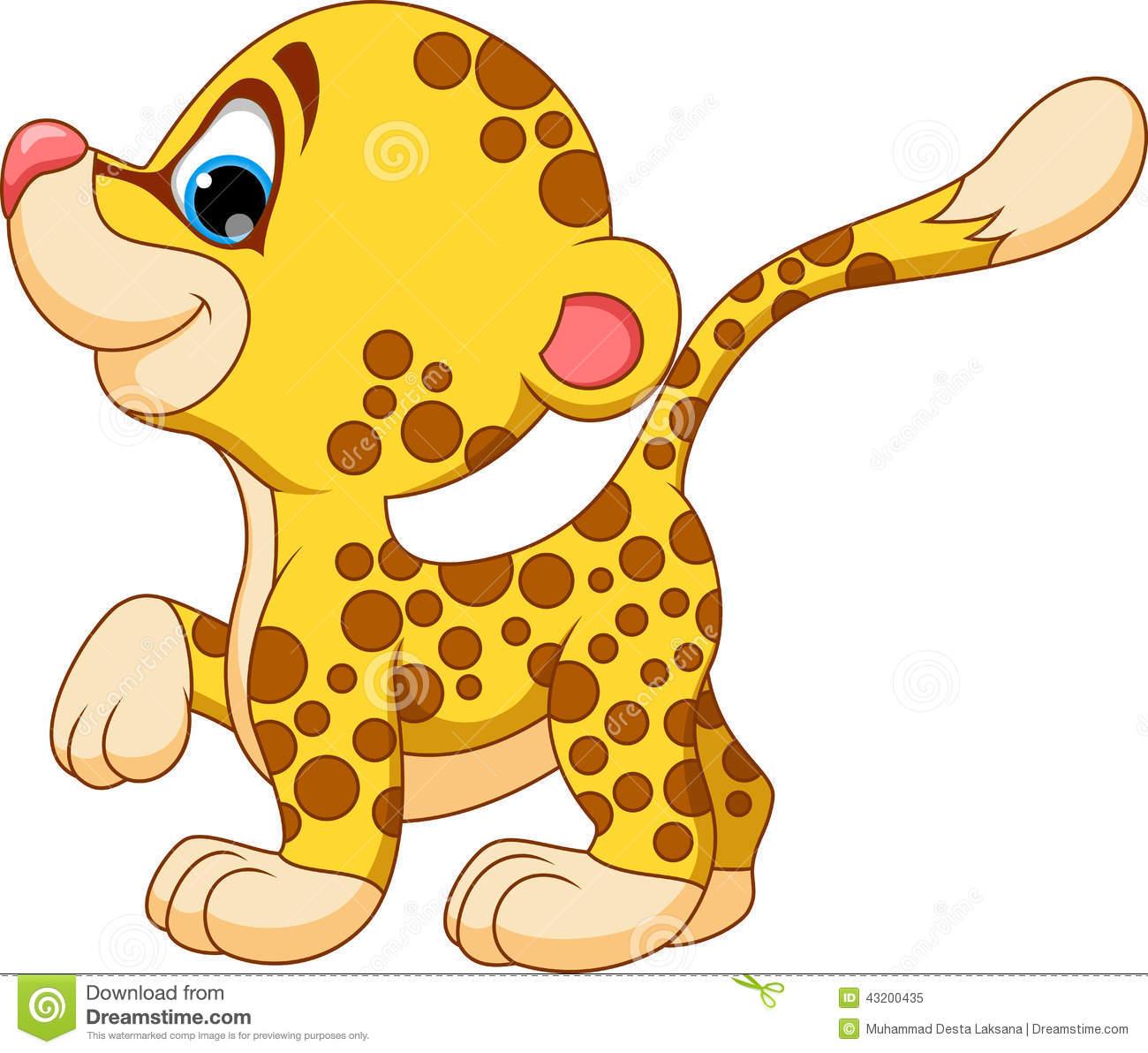 . Cheetah clipart cute baby