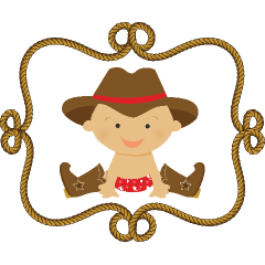 Baby clip art pinterest. Babies clipart cowboy