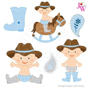 Light blue baby cute. Babies clipart cowboy