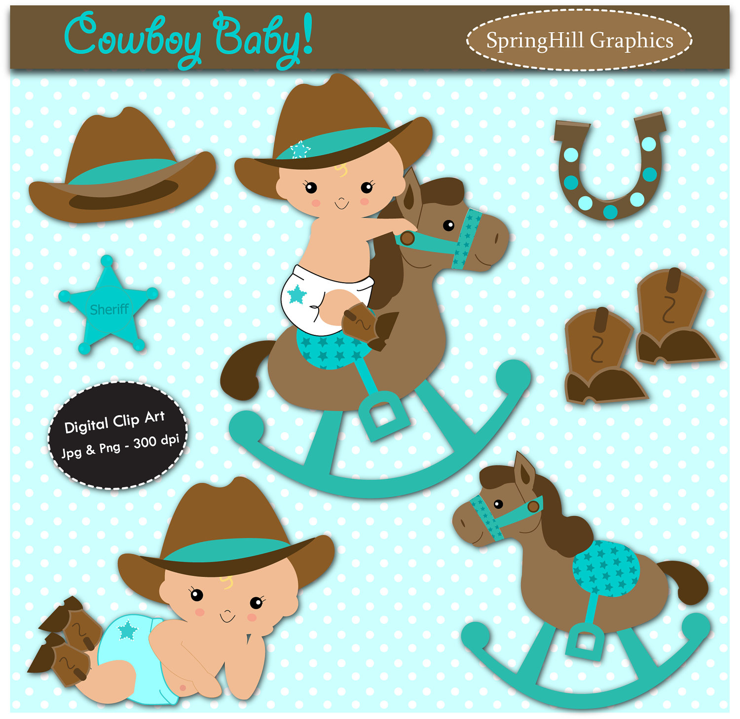 Babies clipart cowboy. Western baby