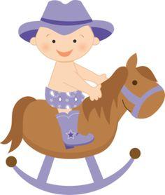 Baby boy cute digital. Babies clipart cowboy