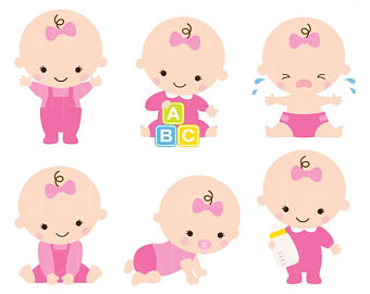 Baby Shower Clipart Clip Art Baby Boy Girl Clipart Cute Baby