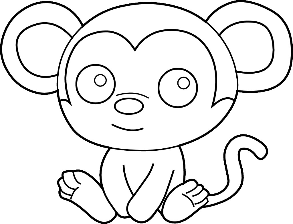 Babies clipart easy. Baby monkey drawing spider