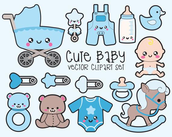 Premium vector kawaii baby. Babies clipart easy