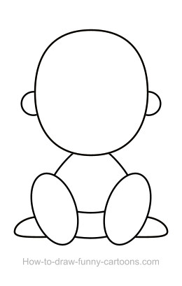Babies clipart easy. How to draw a