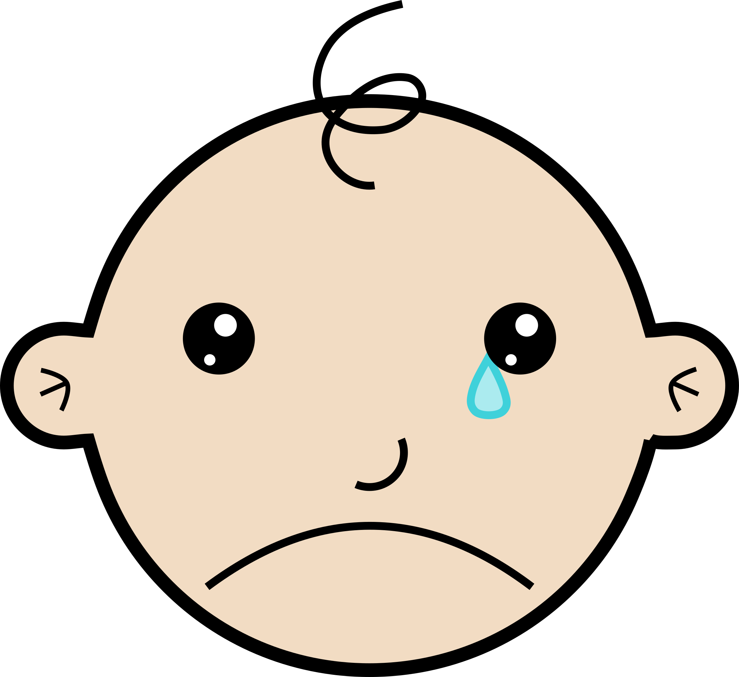 Baby crying big image. Babies clipart easy