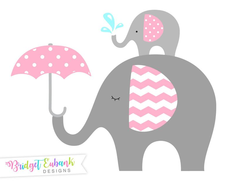 Clip art commercial use. Elephant clipart baby shower