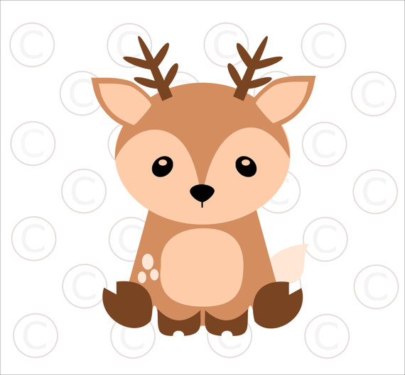 Babies clipart fawn. Baby woodland animal svgs
