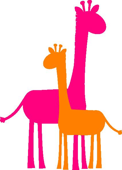 Clipart giraffe mother baby giraffe. Caricature and sillouette clip