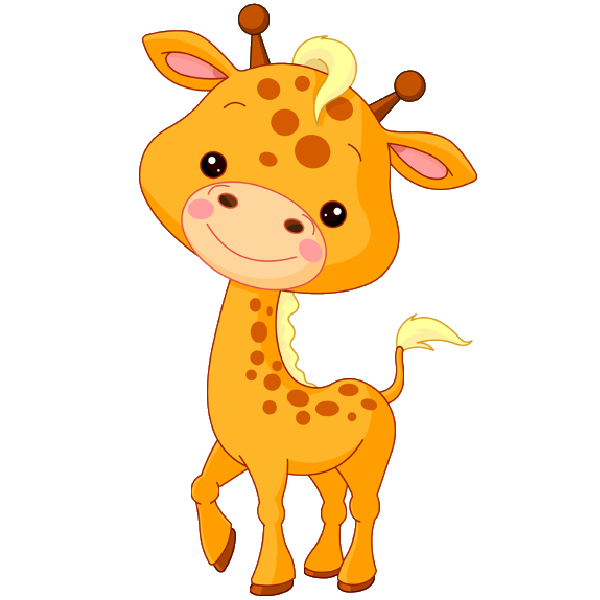 Cute baby giraffe cartoon. Hamster clipart forest animal