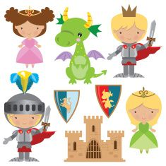 Babies clipart knight. Knights castles and dragons