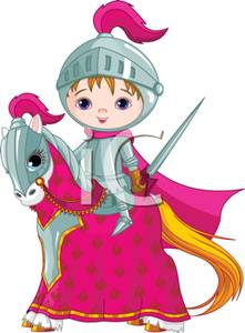 Clip art image a. Babies clipart knight